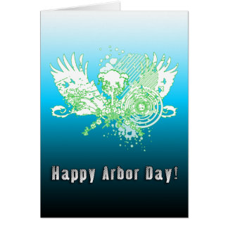 Happy Arbor Day hi-fi tree Card