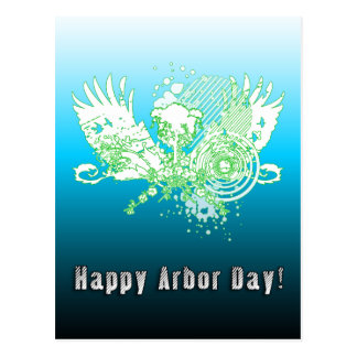 Happy Arbor Day hi-fi tree Postcard