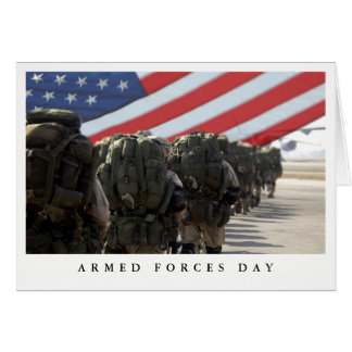 Happy Armed Forces Day Custom Greeting Cards