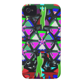 HAPPY Art All Occasions Flowers Stars Pink NVN703 iPhone 4 Case-Mate Case