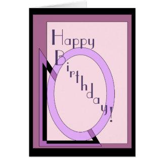 Happy Art Deco Birthday Card