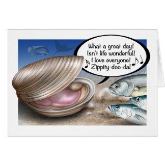 Happy as a clam birthday card
