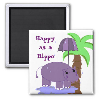 Happy as a Hippo Magnet