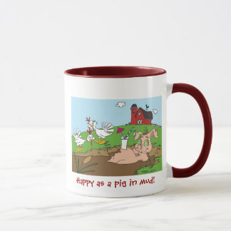Happy as a pig in mud! mug