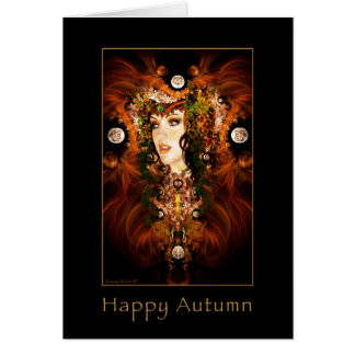 Happy Autumn - Autumn Goddess Card
