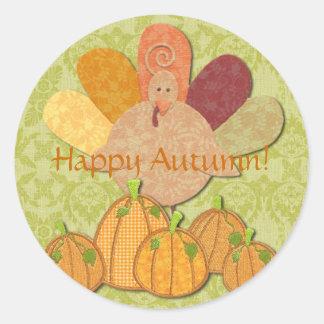 Happy Autumn! Classic Round Sticker