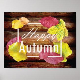 Happy Autumn design Poster