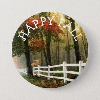 Happy Autumn Fall Colors Button