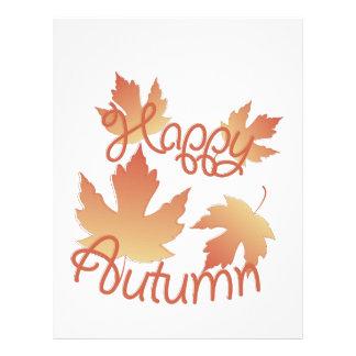 Happy Autumn Letterhead Template