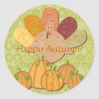 Happy Autumn! Round Sticker