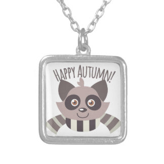 Happy Autumn Silver Plated Necklace