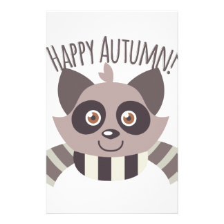 Happy Autumn Stationery Paper