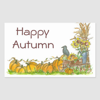 Happy Autumn Stickers Pumpkin Patch Crow