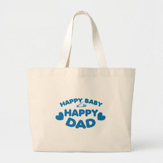 HAPPY baby Happy DADDY Large Tote Bag