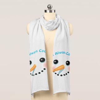 Happy Baby-Snowman Cartoon Scarf