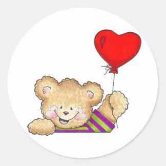 Happy Balloon Classic Round Sticker