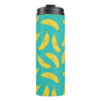 Happy Bananas Cute Fruit Pattern Thermal Tumbler