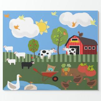 Happy Barnyard Animals Scene (Med. & Lg. Images)