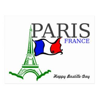 Happy Bastille Day France Postcard