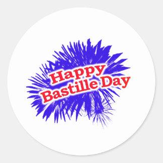 Happy Bastille Day Graphic Classic Round Sticker