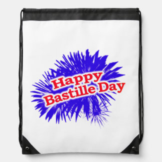 Happy Bastille Day Graphic Drawstring Bag