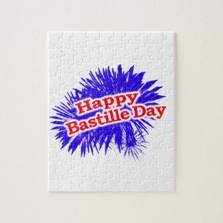 Happy Bastille Day Graphic Logo Jigsaw Puzzle