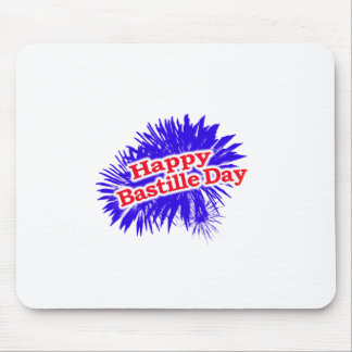 Happy Bastille Day Graphic Logo Mouse Pad