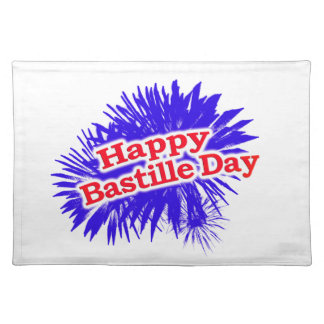 Happy Bastille Day Graphic Logo Placemat