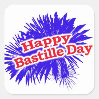Happy Bastille Day Graphic Logo Square Sticker