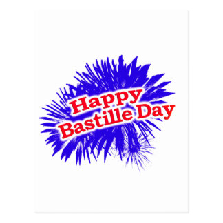 Happy Bastille Day Graphic Postcard