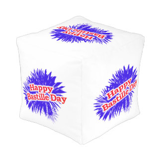 Happy Bastille Day Graphic Pouf