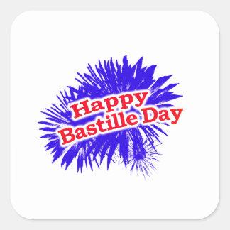 Happy Bastille Day Graphic Square Sticker