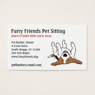 Happy Beagle - Cute Cartoon Dog Business Card