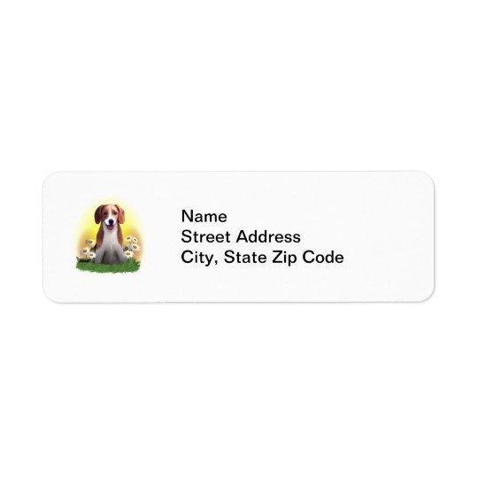 Happy Beagle Pup Label Return Address Label
