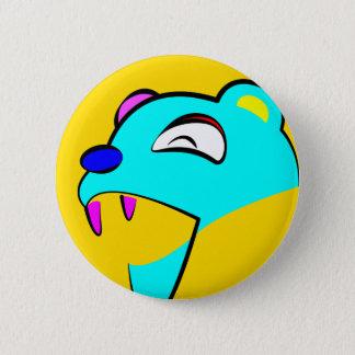 Happy Bear 2 Inch Round Button
