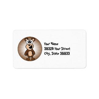 Happy Bear Label