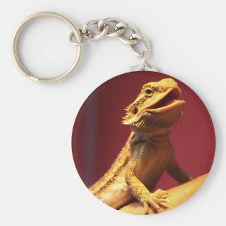 Happy Bearded Dragon Basic Round Button Keychain