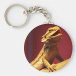 Happy Bearded Dragon Keychain
