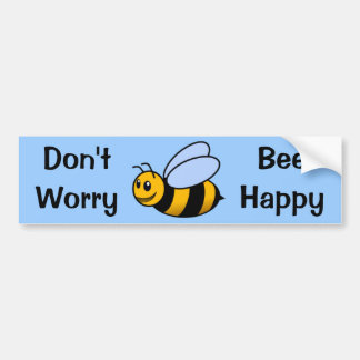 Happy Bee Bumper Sticker