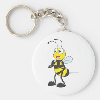 Happy Bee Clapping Keychain