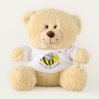Happy Bee Day Bday Bumblebee Personalized Birthday Teddy Bear