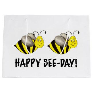 Happy Bee-Day Bumblebee Bees Bday Birthday Bag