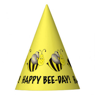 Happy Bee Day Yellow Bumblebee Birthday Bees Party Hat