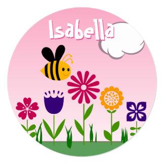 Happy Bee Flower Garden BIRTHDAY Card