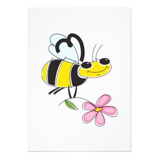 happy bee personalized invites