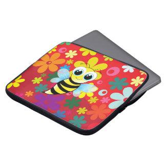 Happy bee laptop computer sleeves