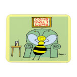 Happy Bee Large Magnet