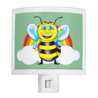 Happy Bee Night Light