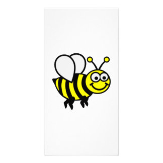Happy bee personalized photo card