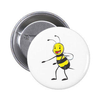 Happy Bee Welcoming You 2 Inch Round Button